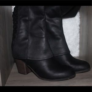 Cute black Fergie boots
